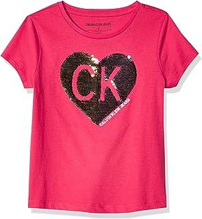 Calvin Klein girls Girls' Flippable Sequin Tee Shirt T-Shirt
