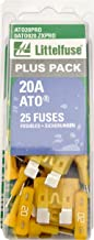 Littelfuse ATO20PRO 20 Amp Fast-Acting Automotive Blade Fuses, Pack of 25