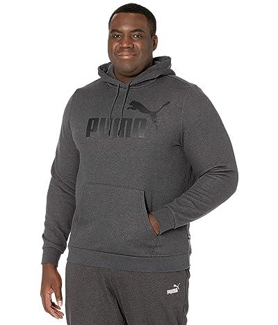 PUMA Big Tall Essential Hoodie Fleece Big Logo (Dark Gray Heather) Men