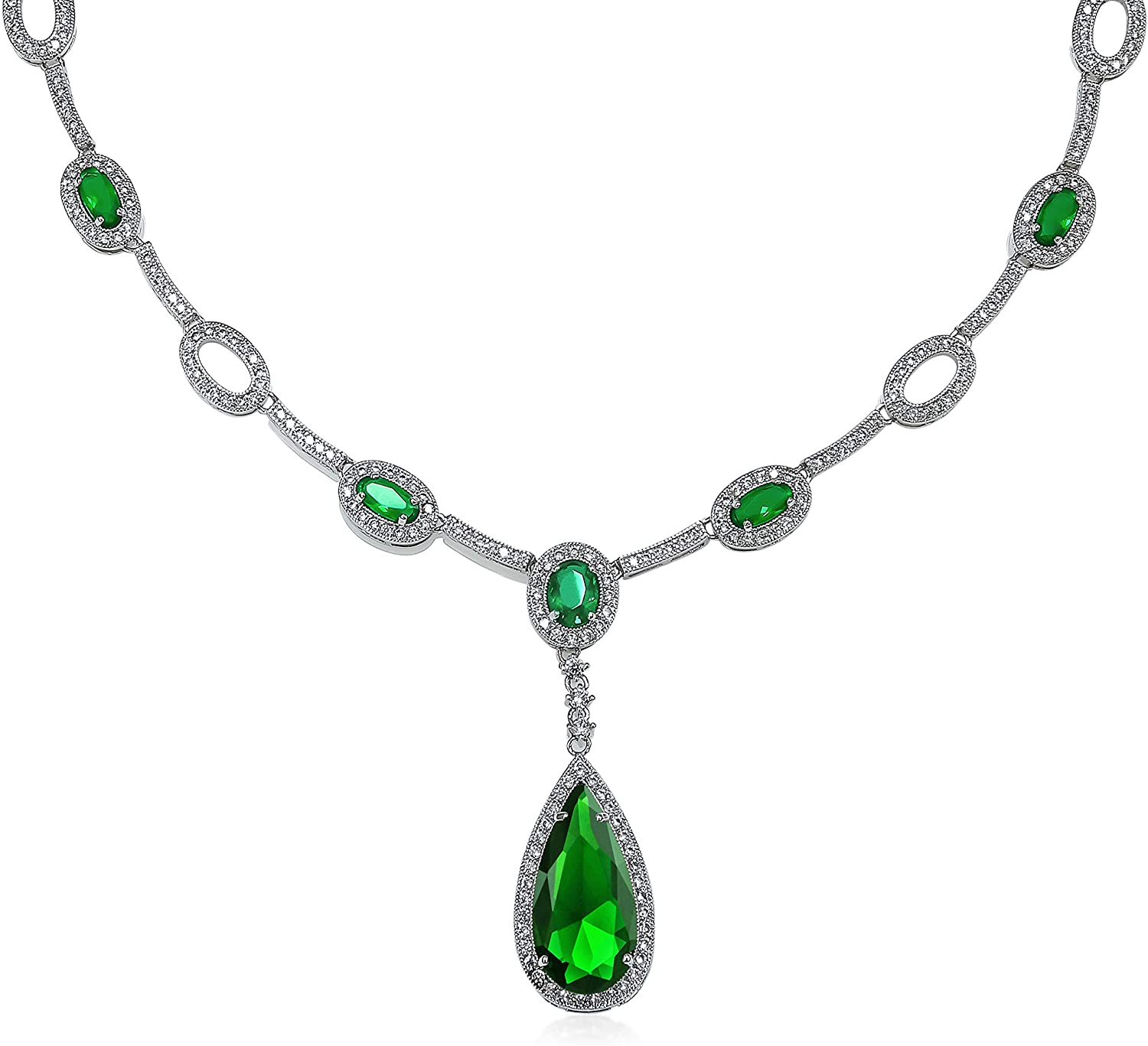 Bling Jewelry Oval Fashion Blue AAA Max 59% OFF Or Green Gemstone Simulated Ranking TOP14