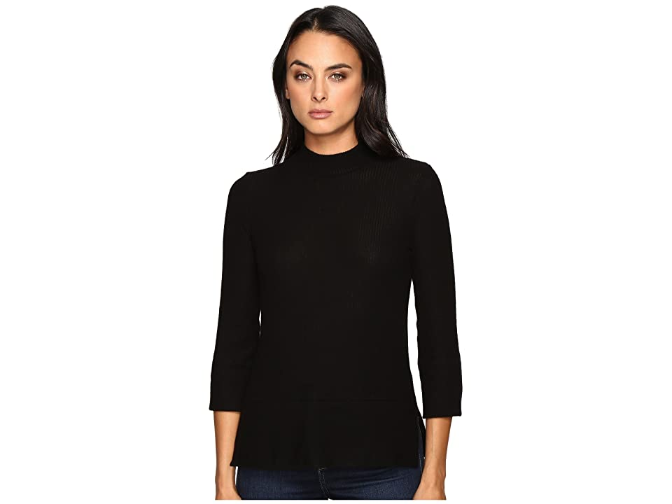 Three Dots Boxy Turtleneck (Black) Women