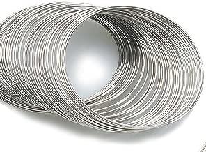 80 Circles Silvertone Bracelet Rigid Steel Memory Wire ~Jewelry Making~