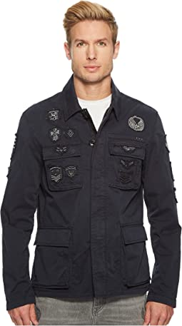 John Varvatos Star U.S.A. - Mid-Length Jacket w/ Patches O1477U1B