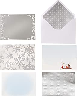 Martha Stewart 30068355 Paper Snow Card Kit, Multicolor