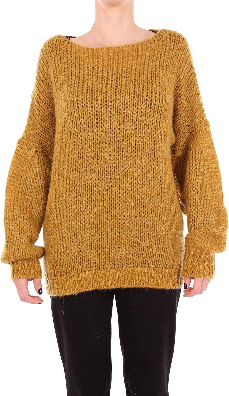 Altea Women's 1861538DARKYELLOW Yellow Acrylic Sweater