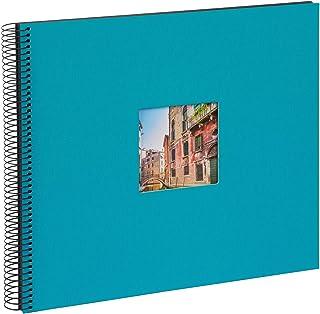 Goldbuch Album Photo à Spirales Bella Vista, Lin, Turquoise, 35x30 cm