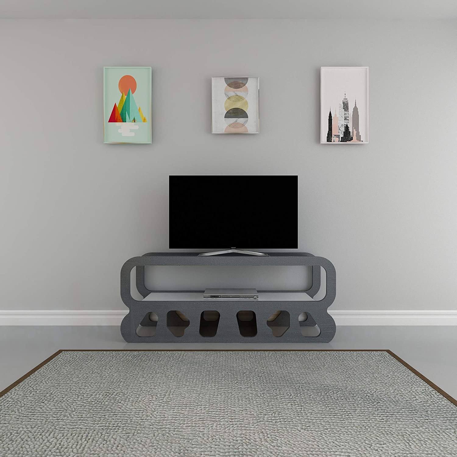 Decgoldtika Flintstones 47  TV Stand Media Console - Ideal for Small Living Room (Anthracite)