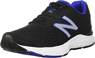 New Balance Men's 680 V6 Black/UV Blue Cushioning Running Shoe 9.5 D US