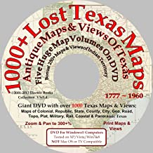 1000+ Lost Antique Maps of Texas & the Southwest on DVDROM (Antique Maps of Texas)
