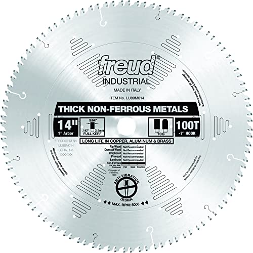 """high quality Freud new arrival 14"""" x 100T Thick Non-Ferrous popular Metal Blade (LU89M014) outlet online sale"""