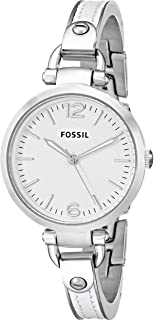 Women's ES3259 Georgia White Stainless Steel/Leather Watch
