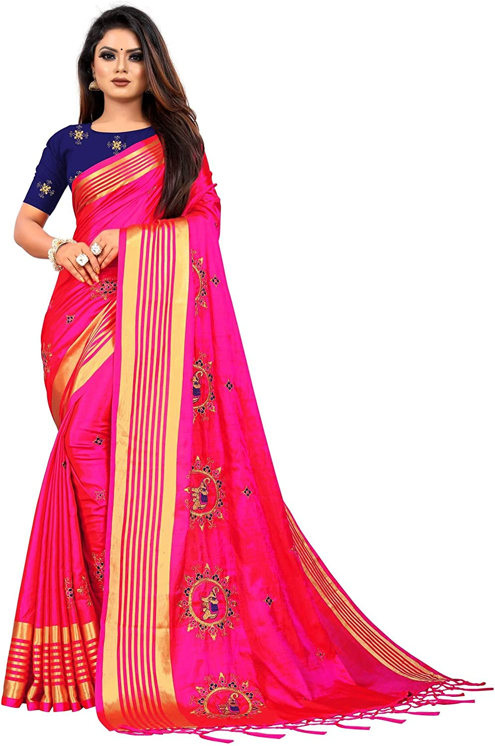 sale kfgroup Women's Embroidered Sana Al sold out. Silk Ethnic Indian Saree Dresse