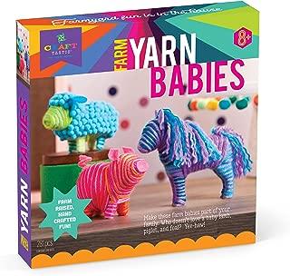 Craft-tastic – Farm Yarn Babies Kit – Craft Kit Makes 3 Yarn-Wrapped Animals – Foal, Lamb & Piglet
