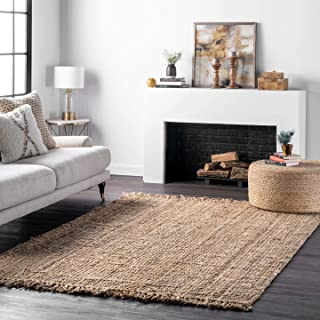 nuLOOM Natura Collection Chunky Loop Accent Jute Rug, 2' x 3', Natural