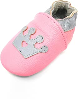 3907677f0f9c Premium Soft Sole Leather Pink Princess Infant and Toddler Baby Girl Crib  Shoes in Sizes 6