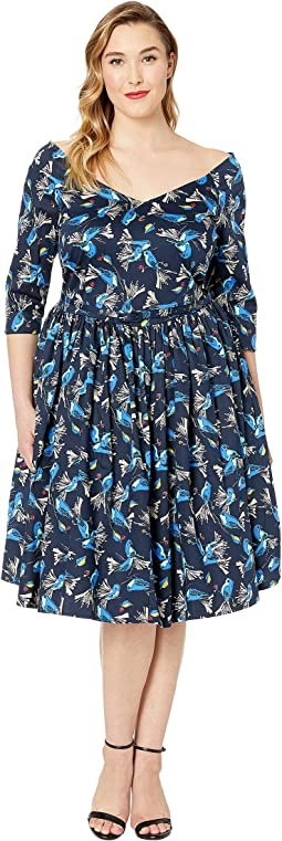 Plus Size Penny Cotton Dress