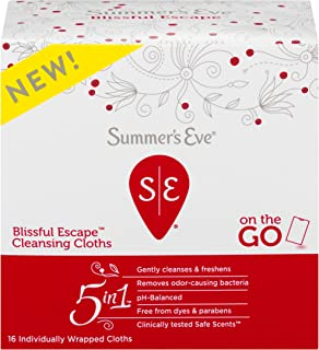 Summer's Eve Cleansing Cloths, Blissful Escape, 16 Count