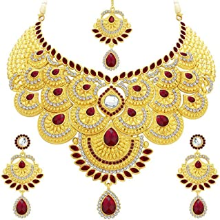 Sukkhi Collection Jewellery Sets for Women (Golden) (3105NADS1700)
