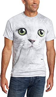 Men's Green Eyes Face T-Shirt, Off-White