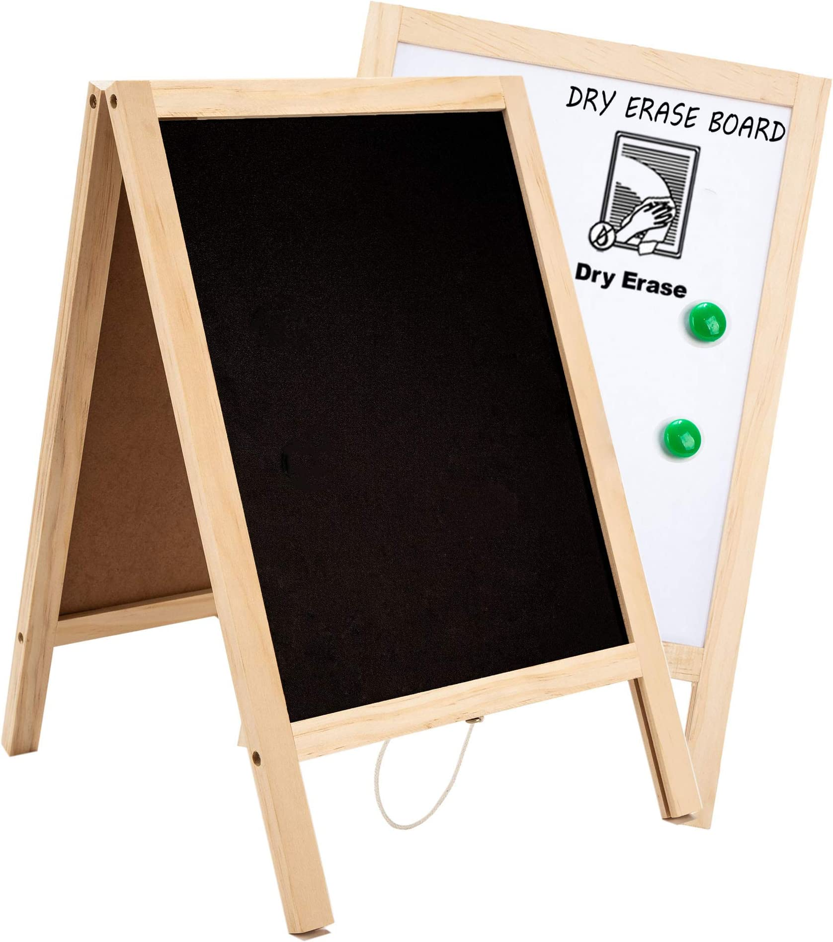 Amazon Com Whiteboard And Chalk Boards With Frame Double Sided Chalkboard Sign Non Porous Erasable Handwriting Mini Signs As Table Top Menu Home Kitchen Wedding Bar Decor 10x15 7 Inches Office Products