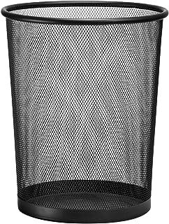 D.RECT Poubelle métal maille 19L noir  Corbeille à papier en treillis métallique   Corbeille à papier ronde