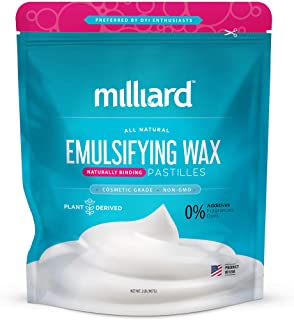 Milliard Non-GMO Emulsifying Wax Pastilles NF � 32 OZ. Resealable Freshness Storage Bag
