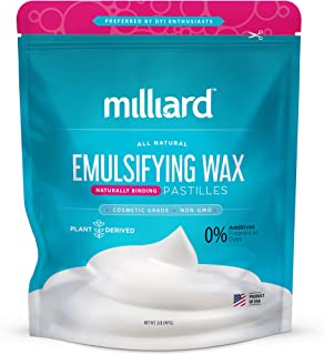 Milliard NON-GMO Emulsifying Wax Pastilles NF – 32 OZ. Resealable Freshness Storage Bag