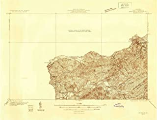 YellowMaps Marion VA topo map, 1:48000 Scale, 15 X 15 Minute, Historical, 1931, 15.9 x 20.9 in