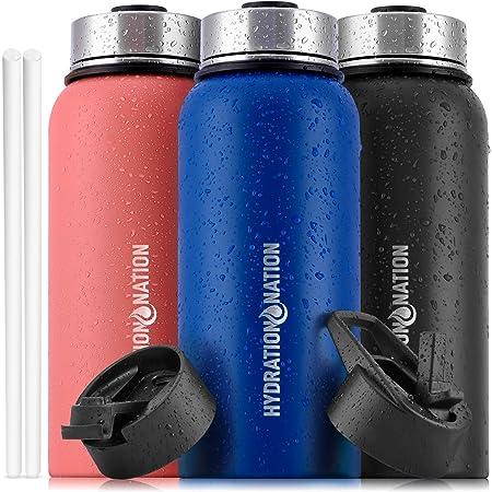 NEW Seek Discomfort 32oz Vacuum Aluminum Water Bottle Black /& White
