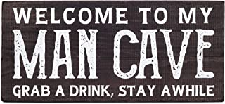 Bella Rosa Home Man Cave Decor- Mancave Accessories and Stuff - Garage Signs and Decor for Men - Funny Basement Bar - Bachelor Pad Wooden Plaque