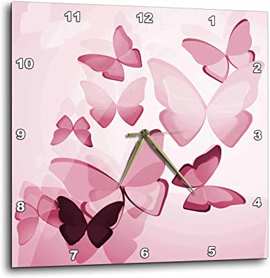 3dRose dpp/_102445/_1 Cute Cow and Pig Valentine Design-Wall Clock 10 by 10-Inch