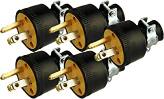 Black Duck Brand Male Extension Cord Replacement Electrical Plugs End (5 Pieces)