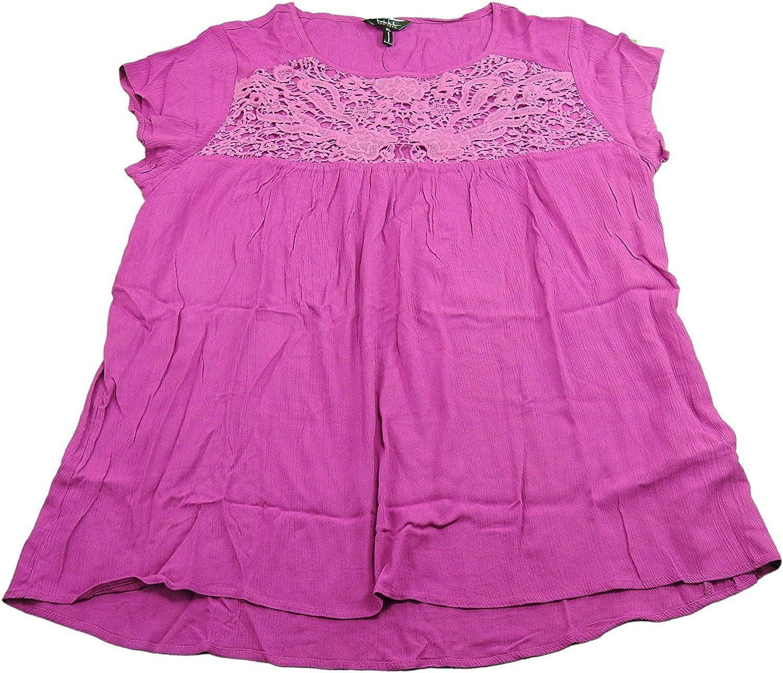 Nicole Miller Ladies Size Large Lace Blouse, Cassis
