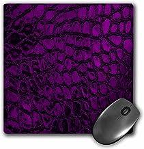 3dRose LLC 8x 8x 0.25Inches Mouse Pad, Pretty morado piel sintética diseño de una Dimensional (MP 78526_ 1)