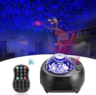 Lámpara Proyector, Estrellas Proyector Ocean Wave con altavoz Bluetooth con control remoto Northern Lights/Universe /Night Sky, proyector estrellado para niños y adultos