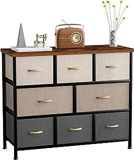 8 Drawer Dresser Organizer Fabric Storage Chest for...