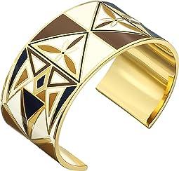 Kaleidoscope Enamel Cuff Bracelet
