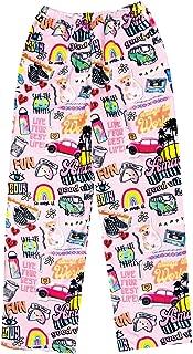 iscream Big Girls Silky Soft Plush Fleece Pants - Pretty in Print Collection