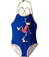 Little Marc Jacobs - One-Piece Miss Marc Swimsuit (Toddler/Little Kids)