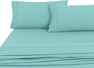 Home Sweet Home Dreams Inc Regency Club 800 Thread Count 100% Egyptian Cotton Wrinkle Resistant Sheet Set (Queen, Aqua)