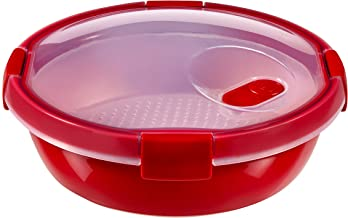 CURVER ronde houder MICRO-WAVE STEAMER 1,0 L ronde houder, kunststof, rood, 20x20x9, 6