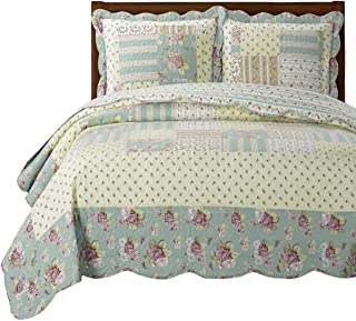 Annabel Luxury Microfiber King/Calking Size, Over-Sized 3pc Quilt Set, 110-Inch Wide x 96-Inch Long Coverlet