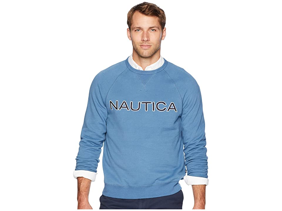 Nautica Fleece Graphic Crew (Blue Stern) Men