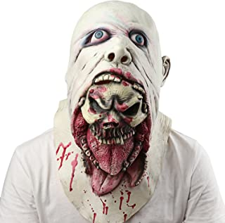 Halloween Mask Scary Bleeding Zombie Horror face mask for Adults