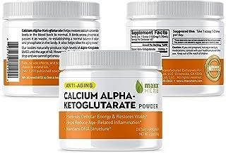 Maxx Herb Calcium Alpha - Ketoglutarate (Ca-AKG) Pure Powder (100 Grams) for Energy, Vitality, Mental Focus, Clarity & DNA...