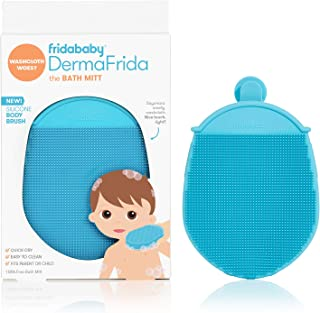 Toddler Silicone Body Bath Brush by Fridababy | DermaFrida The Bath Mitt | Quick-Dry, Bacteria-Resistant Replacement to Ki...