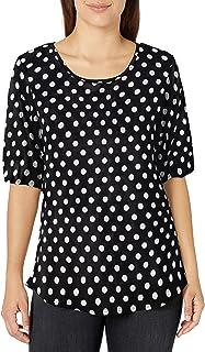 قميص قصير الأكمام للنساء من Star Vixen بفتحة خلفية ذيل القميص