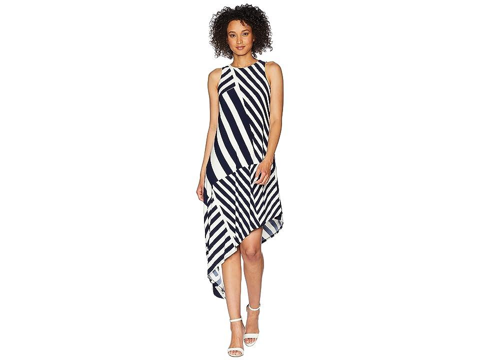 LAUREN Ralph Lauren Susu Sleeveless Day Dress (Lighthouse Navy/Colonial Cream) Women
