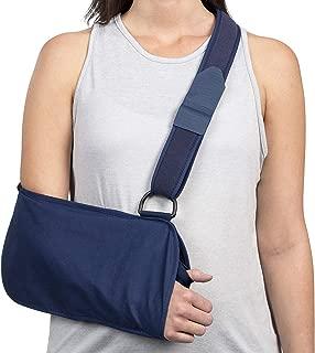 FitPro Deluxe Adjustable Standard Arm Sling, Medium, Amazon Exclusive Brand, Blue