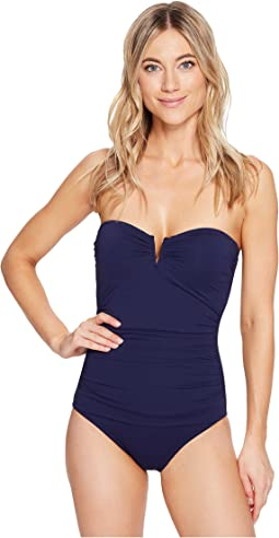 3a7ef80ba95ff Pearl Wrap-Front One-Piece Swimsuit.  140.00. 5Rated 5 stars5Rated 5 stars.  Mare Navy